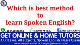 Best method to learn Spoken English ||Urdu/Hindi|| Rescuers Tutors