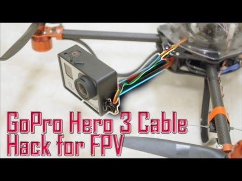 Fpv Wiring Diagram 1 Phase Contactor With Overload Gopro Hero 3 Usb Composite Video Cable Hack For - Youtube