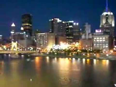 Pittsburgh, Pennsylvania skyline from PNC Park at night