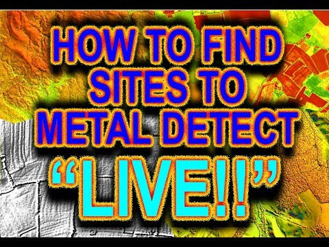 LIVE! How to find Sites to Metal Detect