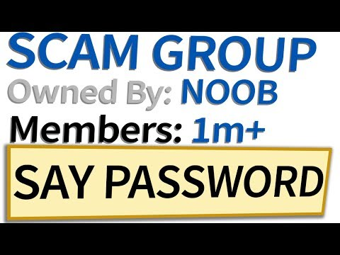 Roblox SCAM groups with 1 MILLION members...