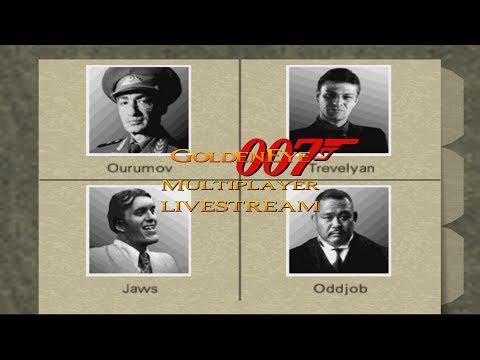 GoldenEye 007 - 4 Player Multiplayer Splitscreen Livestream #4 - Default GE and mods