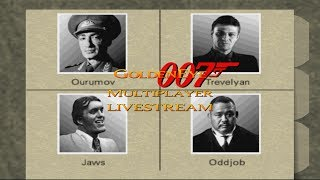 GoldenEye 007 - 4 Player Multiplayer Splitscreen Livestream #4 - Default GE and mods