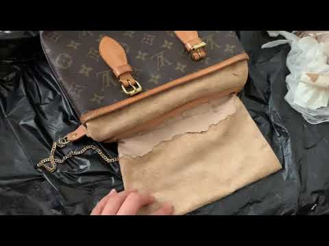How I remove/clean Louis Vuitton bucket bag sticky lining without purchasing extra products online .
