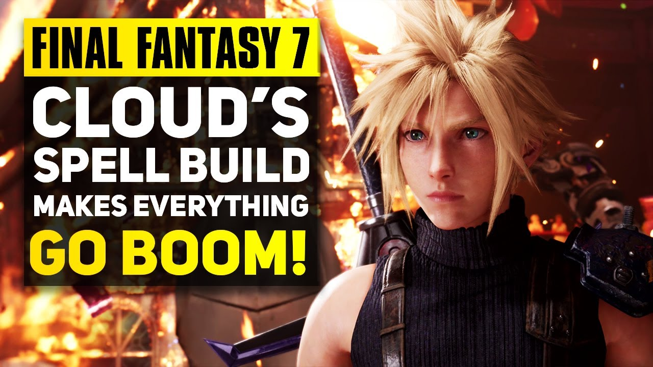 Final Fantasy 7 Remake Best End Game Spell Build For Cloud Ff7 Remake Advanced Combat Guide Youtube