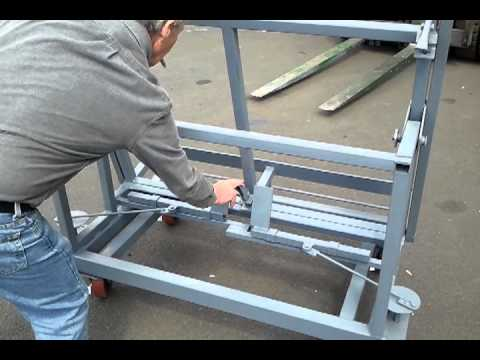 Custom Heavy Duty Tilting A Frame Panel Handler Cart