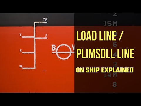 The International Load Line Markings On Ship's Sides Explained  - Plimsoll Marking