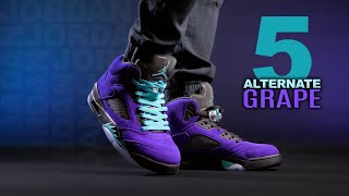 I fixed the Air Jordan 5 Alternate Grape  | On Foot 4K Review