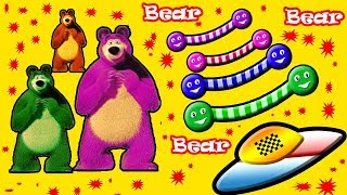 Little Baby Fun Learning Colors Shapes for Children Bear Wooden Toys 3D Kids Video Baby Monster