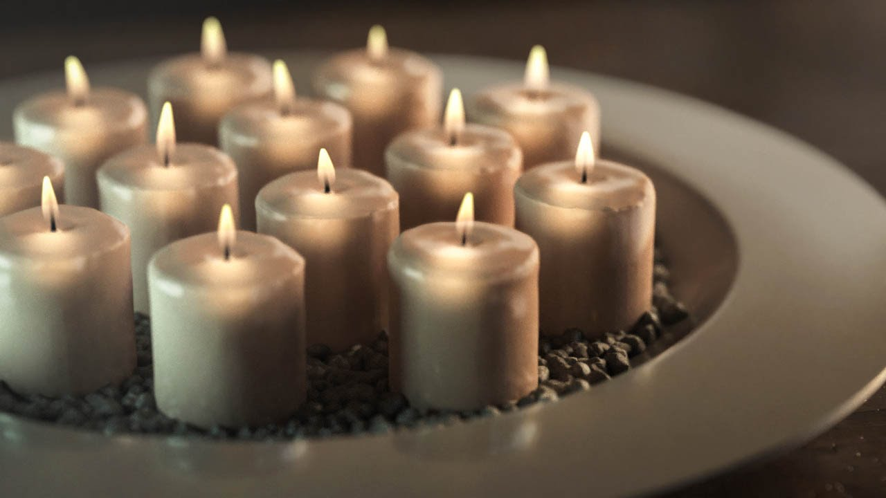 Rendering Candles In 3DsMax Using IRAY