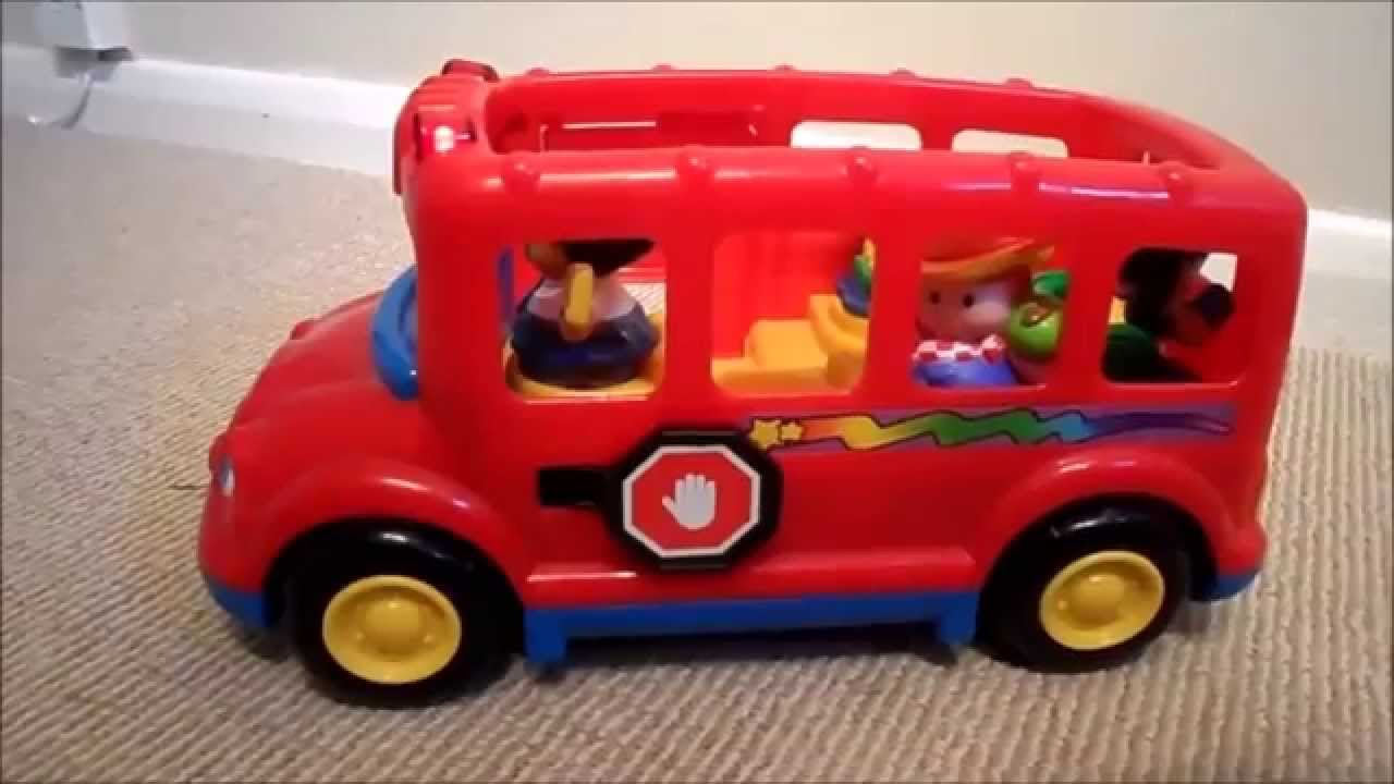 fisher price little people lil 39 movers red school bus toy. Black Bedroom Furniture Sets. Home Design Ideas