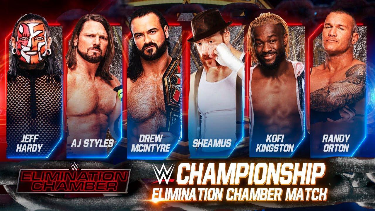 WWE Elimination chamber 2021 Match card And Winners Predictions   Elimination  chamber 2021 Winners - YouTube