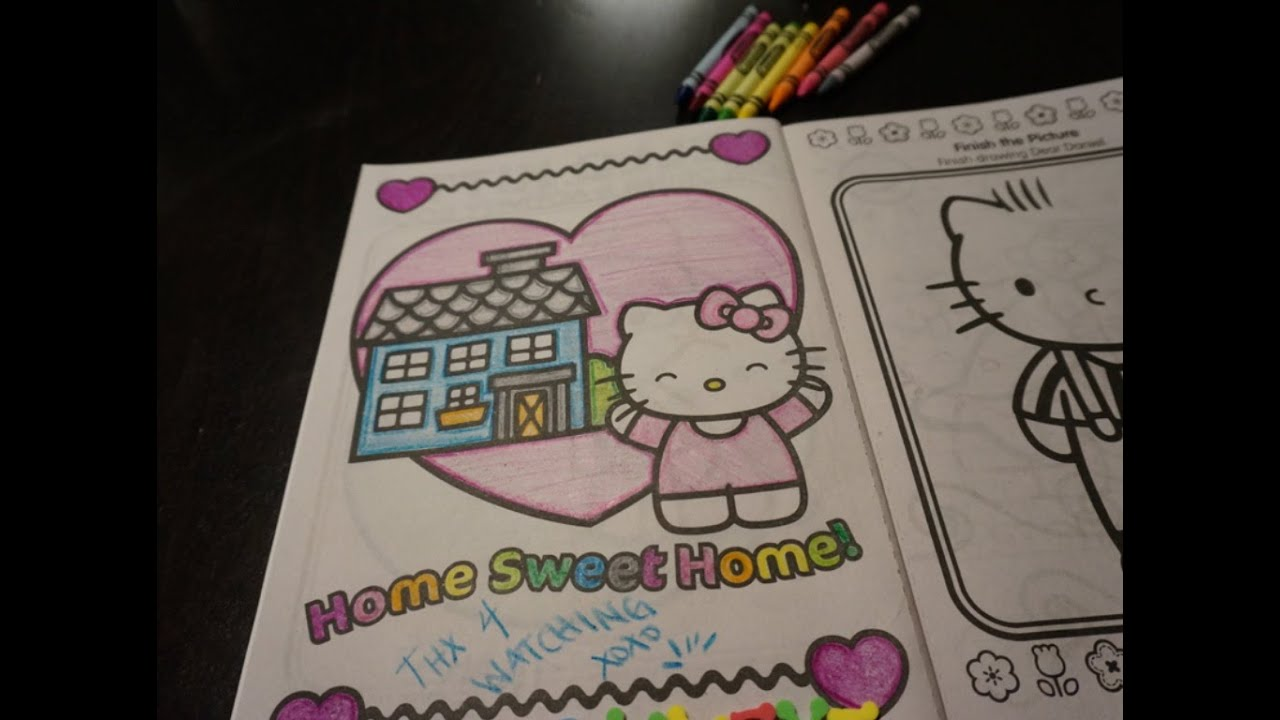 Hello Kitty Coloring Home Sweet Home For Kids  YouTube