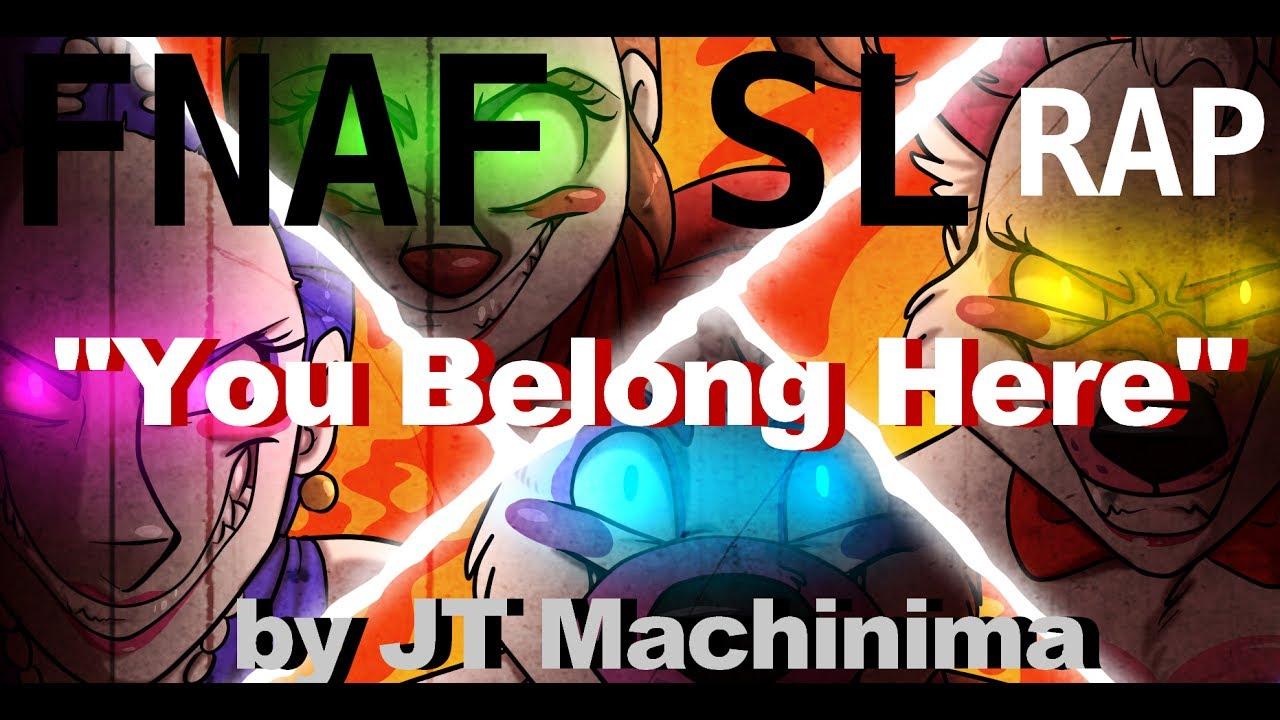 "Download FNaF Sister Location RAP ""You Belong Here"" by JT Machinima"