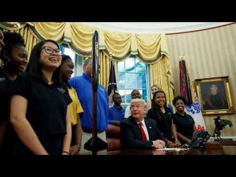 POTUS praises students for naming rocket 'Trump'