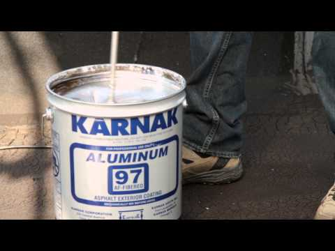 How to Apply Reflective Fibered Aluminum Roof Coating on an
