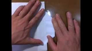 クリアファイルでも折れる立方体箱のカトー折リの折り方を教えます。 thumbnail
