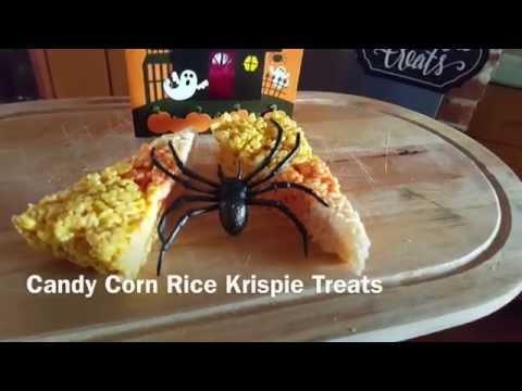 Candy Corn Rice Krispie Halloween Treats