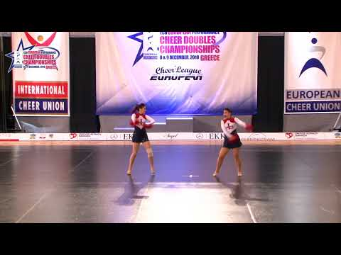 98 JUNIOR DOUBLE FREESTYLE POM Dugac   Vrsic CHEERLEADING CLUB LANA 2 CROATIA