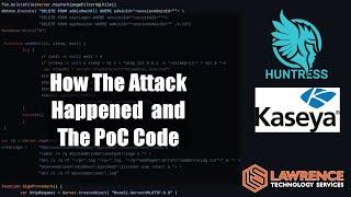 Kaseya VSA Ransomware Technical Details and Huntress PoC