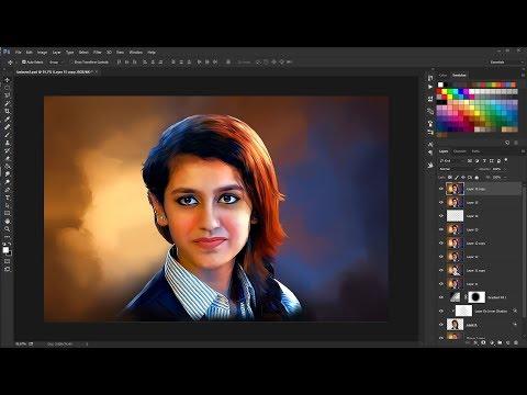 Priya Prakash Varrier - Digital Painting Effect In Photoshop