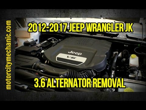 2012-2017 Jeep Wrangler JK 3.6 alternator replacement