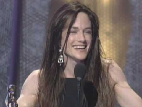 Holly Hunter winning an Oscar® for