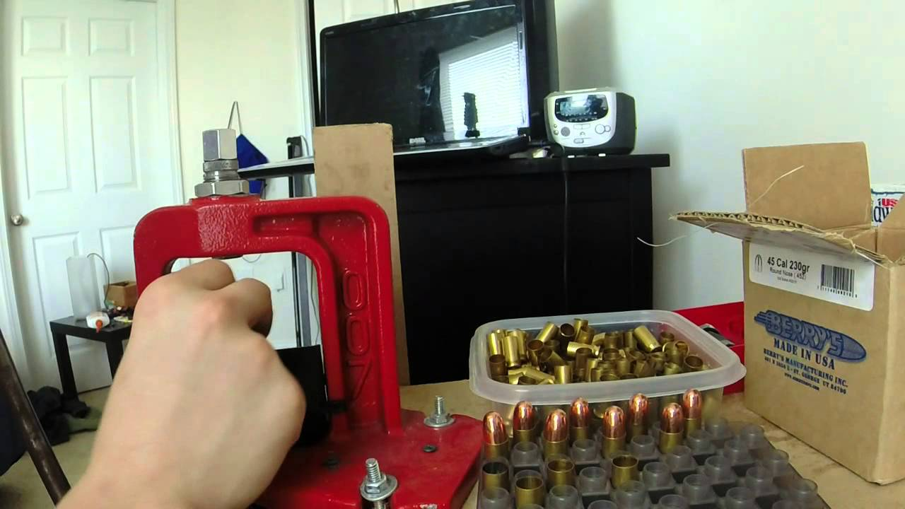 Reloading - How to Reload 45 ACP with a single stage press