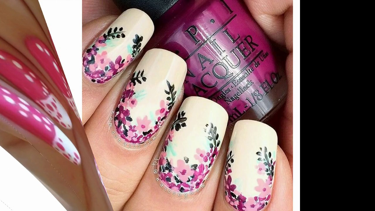 Nuevas Tendencias En Uñas Decoradas Con Blanco Y Rosa Youtube