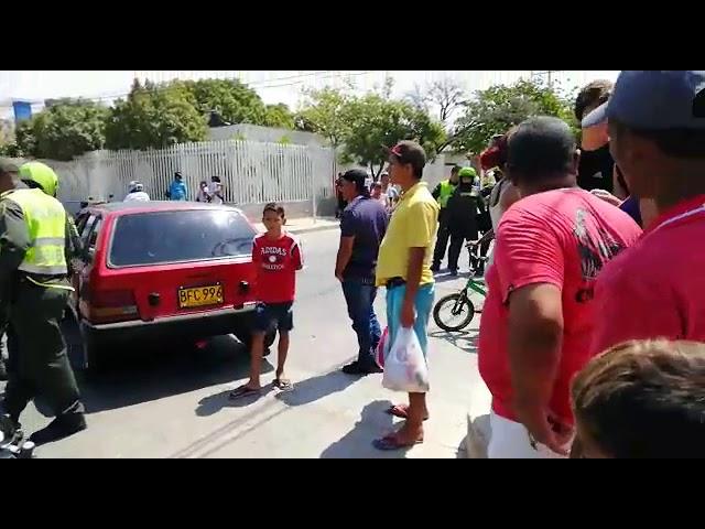Accidente de tránsito en Santa Marta dejó a dos policías heridos
