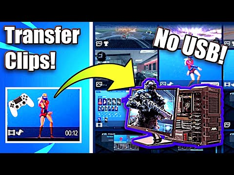 How to Transfer PS4 Clips to PC with NO USB Needed! (Easy Method)