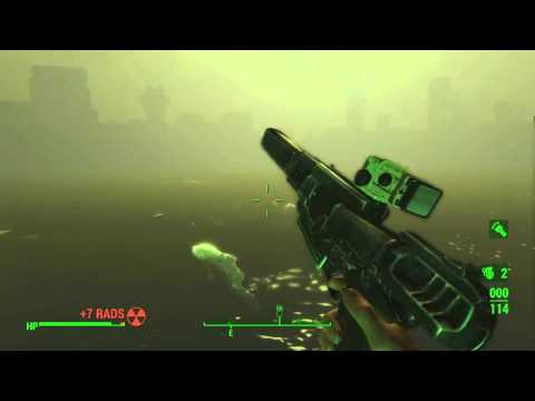 Fallout 4 (Institute Crater) Floating Power Armor & Swimming Synths HD