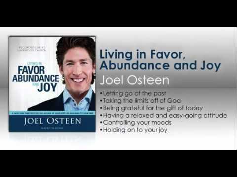 Living in Favor Abundance and Joy 5 CD's Audio Book Joel Osteen 10 GREAT SERMONS