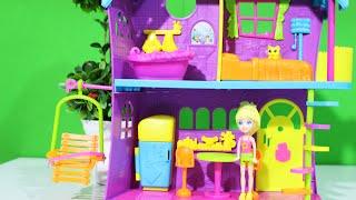 Casa da Polly Pocket Melhor Casa de Todas - Abrindo Brinquedos em Português