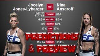 UFC Fight Night 103 Predictions Jocelyn Jones-Lybarger vs Nina Ansaroff UFC PHOENIX PREVIEW