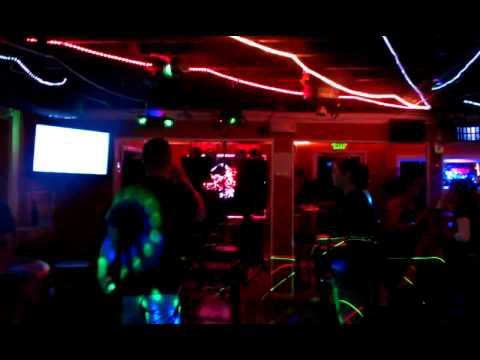 Tara Sellers and Casey karaoke
