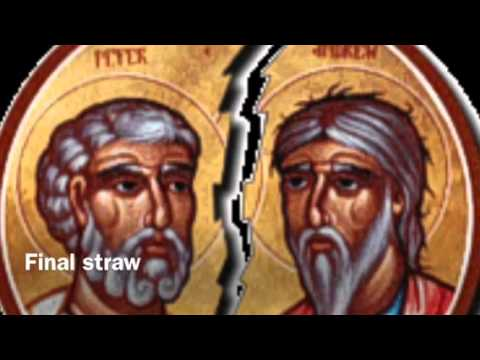 the east west schism The east–west schism divided medieval christianity into eastern (greek) and western (latin) branches, which later became known as the eastern orthodox church and the roman catholic church, respectively.