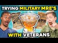 Military Members Eat Military Meals MREs With Civilians | People Vs. Food
