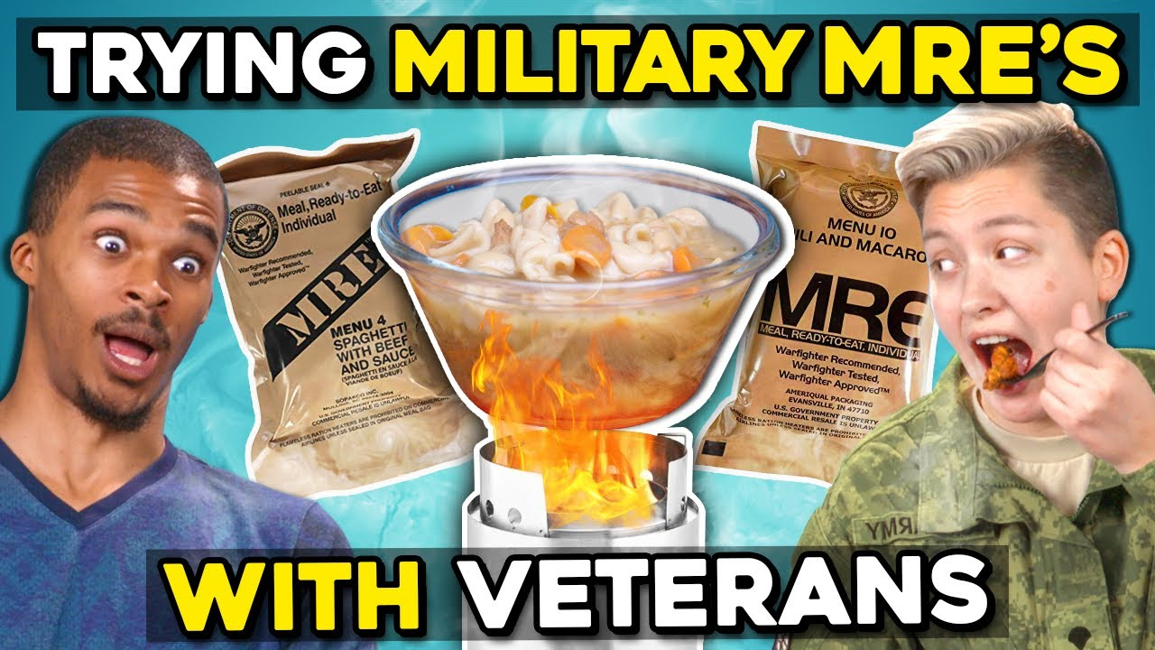 Download Military Members Eat Military Meals (MREs) With Civilians | People Vs. Food