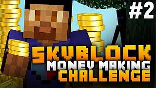 FiRST MONEY FARM!!! | Minecraft SKYBLOCK SURViVAL #1 (Season 2) w/WildX