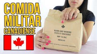 Probando COMIDA MILITAR de CANADÁ