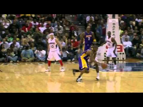 03 29 2009   Lakers vs  Hawks   Kobe Takes Mario West To School