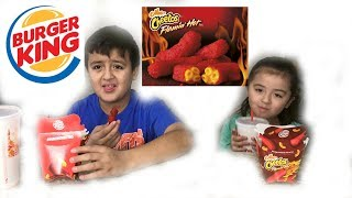 BURGER KING MAC N HOT CHEETOS TASTE TEST | DANIEL ARMANI