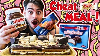 DEVILISH CAKE CHEATMEAL | Nutella, twix, munchmallow and many more | MANvsFOOD