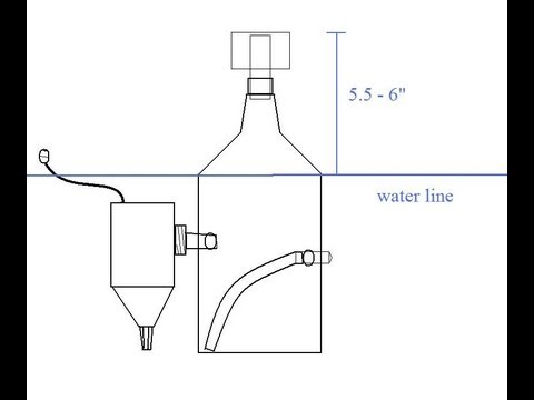 How to make a Protein Skimmer DIY Nano Saltwater Tank with Diagrams