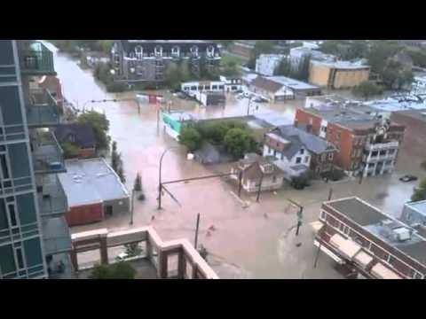 Calgary Downtown flooding, Alberta Flood 22 June 2013.