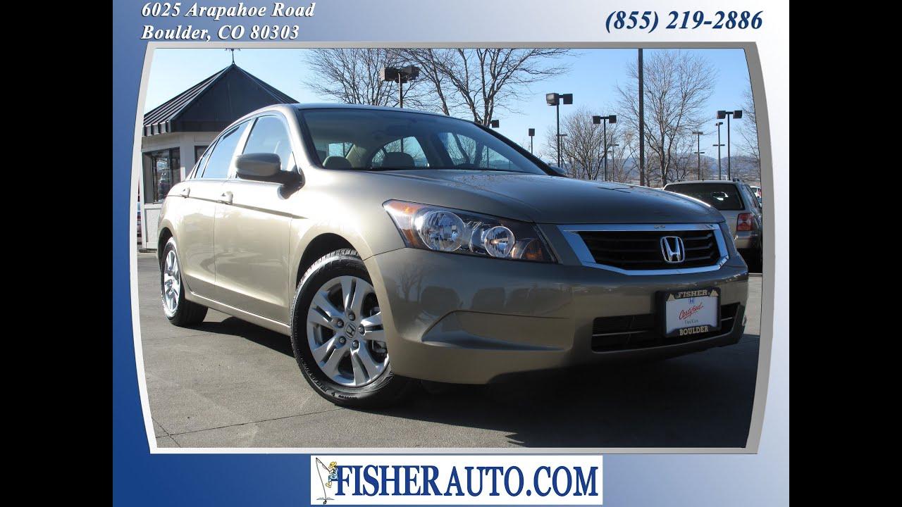 Wonderful 2010 Honda Accord LXP Gold | $19,900* | Boulder, Colorado | Fisher Auto  (Stock #P6735)