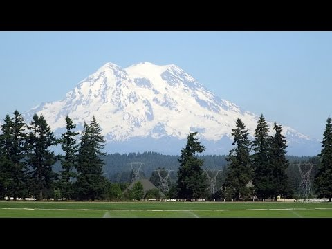 Portland Oregon to Vancouver BC by train-#2: Columbia River to Mount Rainier 2015-06-08
