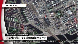 Tågvärd knivskuren av passagerare - Nyheterna (TV4)