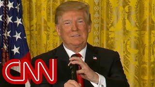 Trump defends separating families, falsely blames Democrats